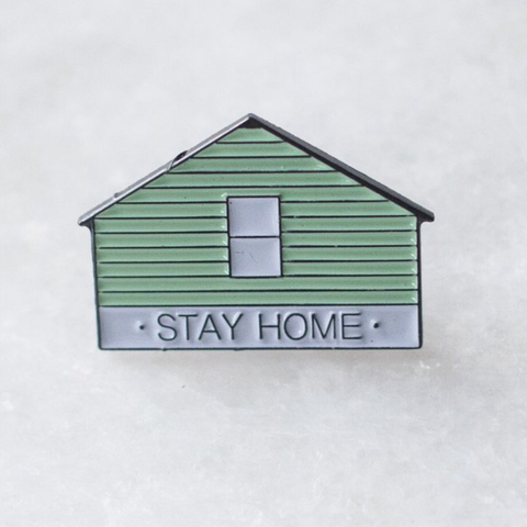STAY HOME LAPEL PIN