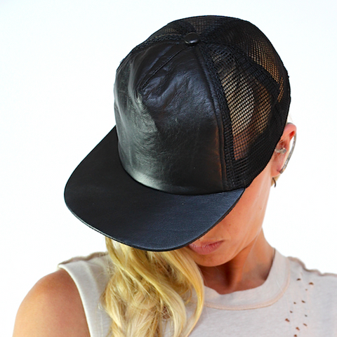LEATHER DOMINATES HAT
