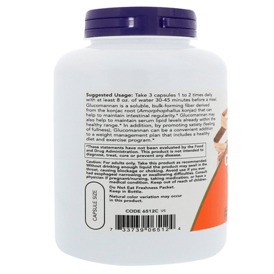 Now Foods Glucomannan 575mg 180 Caps