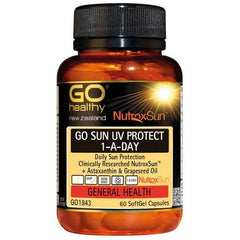 GO Healthy Go Sun UV Protect 1-A-Day 60 Capsules-Physical Product-GO Healthy-Supplements.co.nz