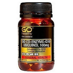 Go Healthy Go CO-Q10 UBIQUINOL 100Mg 30 Veggie Caps
