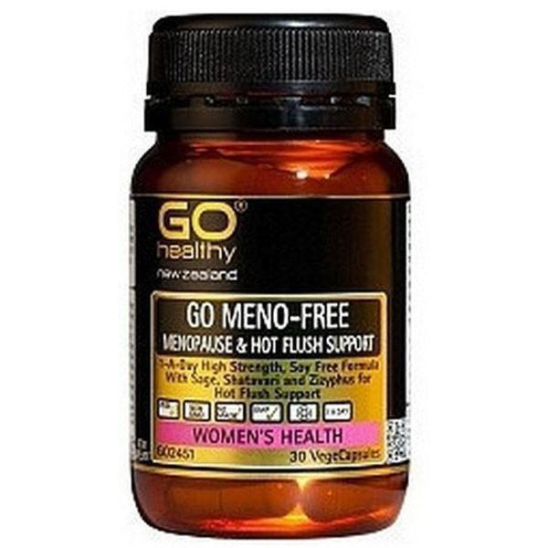 Go Healthy Go Meno-Free 30 Veggie Caps-Physical Product-GO Healthy-Supplements.co.nz