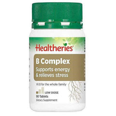 Healtheries B Complex Tablets 90s-Physical Product-Healtheries-Supplements.co.nz
