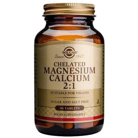 Solgar Chelated Magnesium Calcium 2:1 50 Tablets-Physical Product-Solgar-Supplements.co.nz