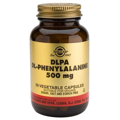Solgar DLPA (DL-Phenylalanine) 50 Caps-Physical Product-Solgar-Supplements.co.nz
