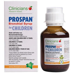 Clinicians Prospan Bronchial Syrup for Children - Supplements.co.nz