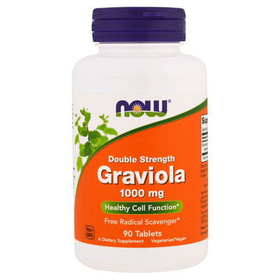 Now Foods Double Strength Graviola 1000mg 90 Tabs