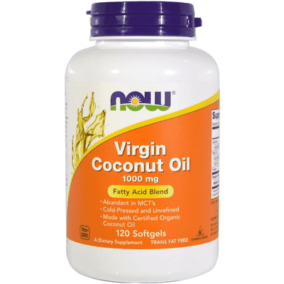 Now Foods Virgin Coconut Oil 1000mg 120 Softgels