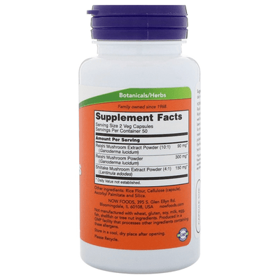 Now Foods Rei-Shi Mushrooms 270mg 100 Veggie Caps