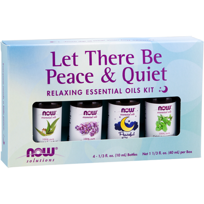 Now Foods Let There Be Peace & Quiet Relaxing Essential Oils Kit 4x10ml