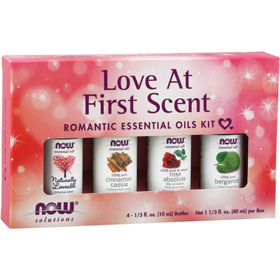 Now Foods Love At First Scent Romantic Essential Oils Kit 4x10ml