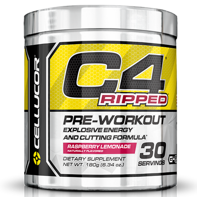 Cellucor C4 Ripped, 30 Servings of Raspberry Lemonade flavour - Supplements.co.nz