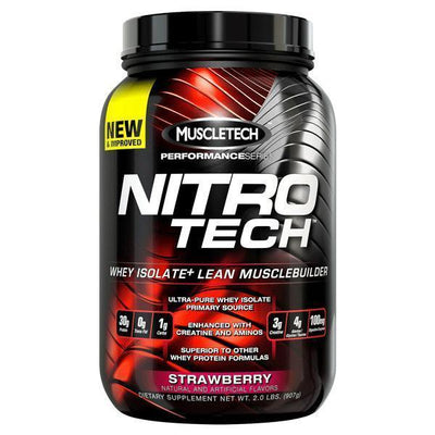 MuscleTech Nitro-Tech 2lb-Physical Product-Muscletech-Strawberry-Supplements.co.nz