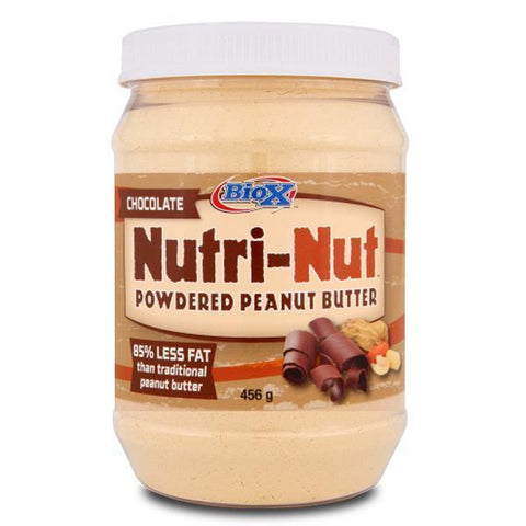 BioX Nutri-Nut Powdered Chocolate Peanut Butter 456g - Supplements.co.nz