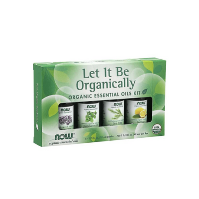 Now Foods Let it Be Organically Organic Essential Oils Kit 4x10ml