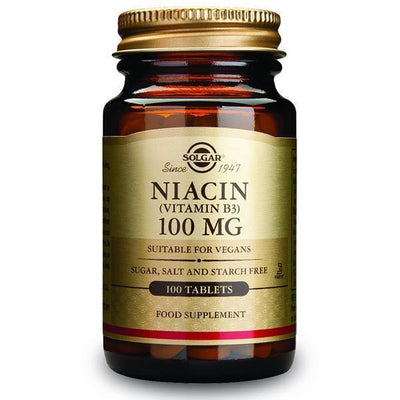 Solgar Vitamin B3 (Niacin) 100mg 100 Tablets-Physical Product-Solgar-Supplements.co.nz