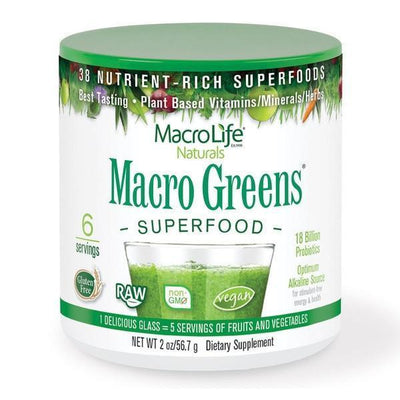 MacroLife Naturals - MacroLife Naturals - Macro Greens 6 Servings 57gm - Supplements.co.nz