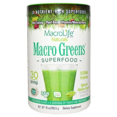 MacroLife Naturals - MacroLife Naturals - Macro Greens 30 Servings 284gm - Supplements.co.nz