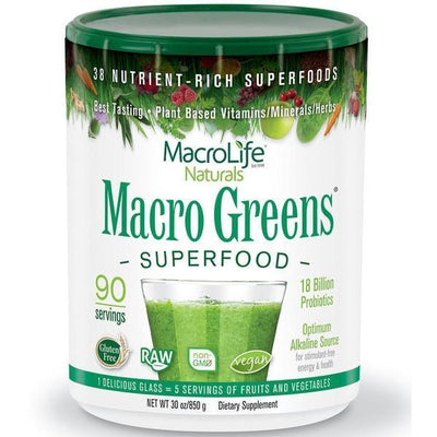 MacroLife Naturals - MacroLife Naturals - Macro Greens 90 Servings 850gm - Supplements.co.nz