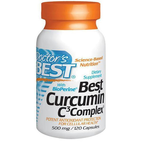 Doctor's Best Curcumin C3 Complex 500mg 120 Caps - Supplements.co.nz