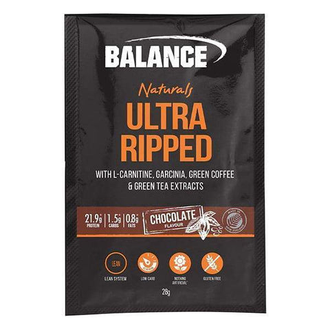 Balance Ultra Ripped Naturals 28gx15 Chocolate Sachets - Supplements.co.nz
