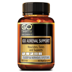 Go Healthy Go Adrenal Support 60 Veggie Caps - Supplements.co.nz