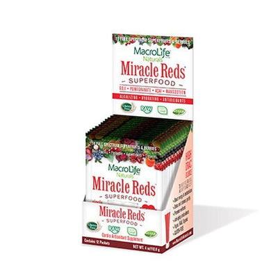 MacroLife Naturals Miracle Reds Superfood Sachets (9.4g x 12) - Supplements.co.nz