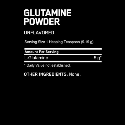 Optimum Nutrition Glutamine Powder 600g - Supplements.co.nz