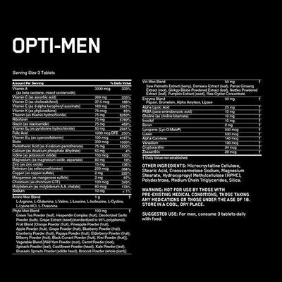 Optimum Nutrition Opti-Men 240 Tablets - Supplements.co.nz