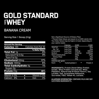 Optimum 100% Gold Standard Whey 10lb - Supplements.co.nz