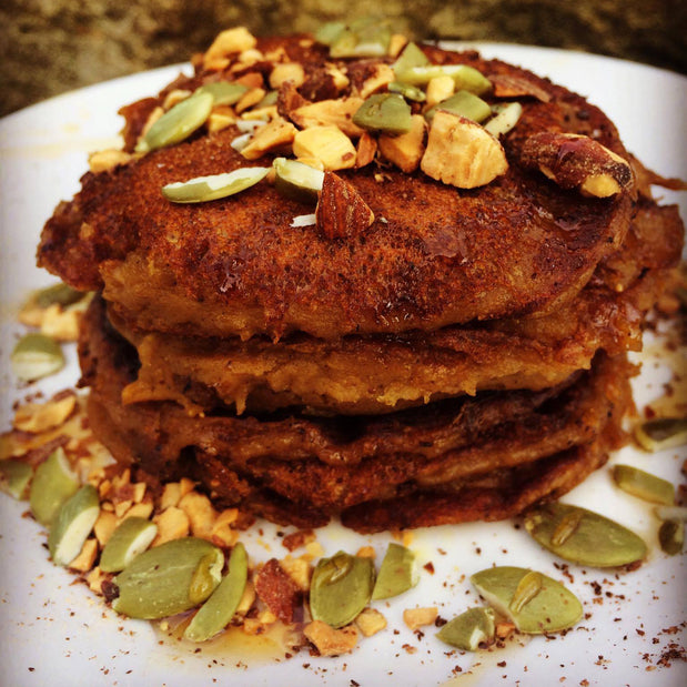 Plant Protein Pumpkin Spice Pancakes