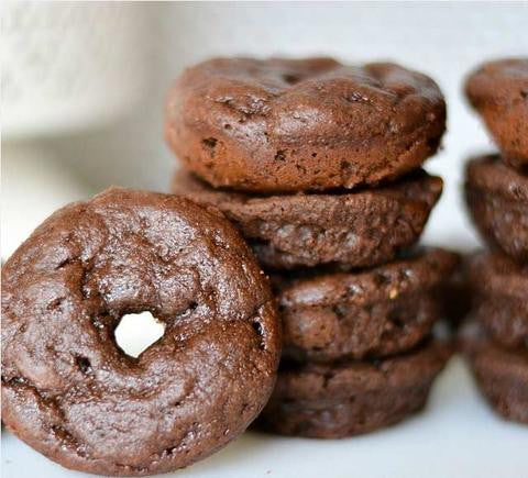 Mini Chocolate Protein Brownie Donuts