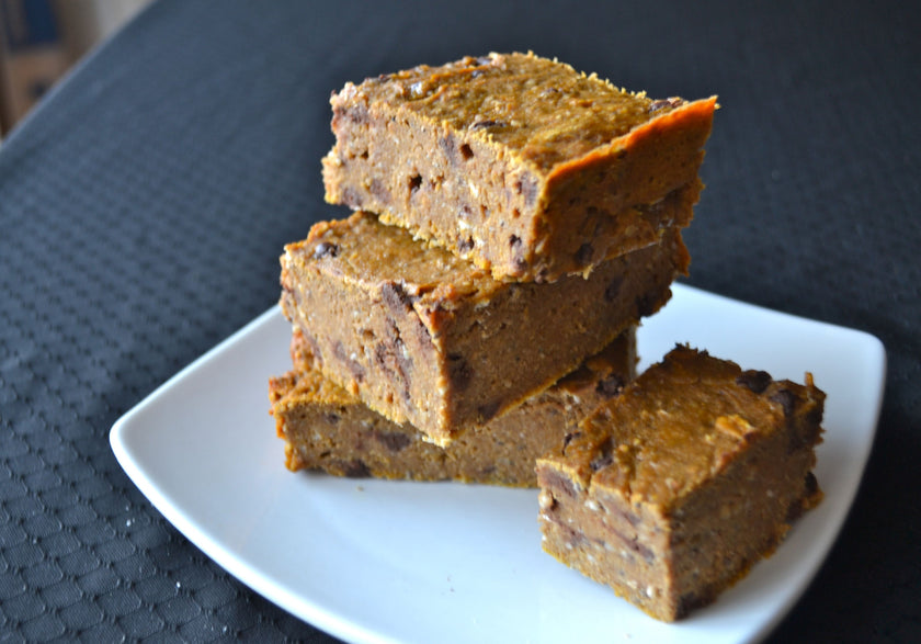 Homemade Pumpkin Protein Bars