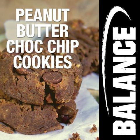 Peanut Butter Choc-Chip Protein Cookies
