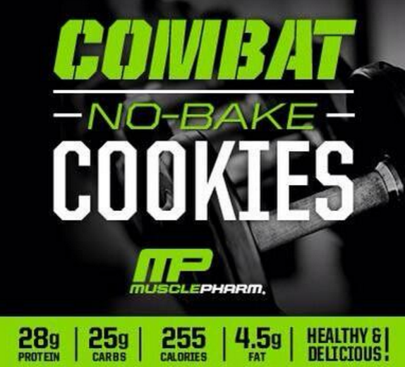 No Bake Protein Cookies with MusclePharm Combat