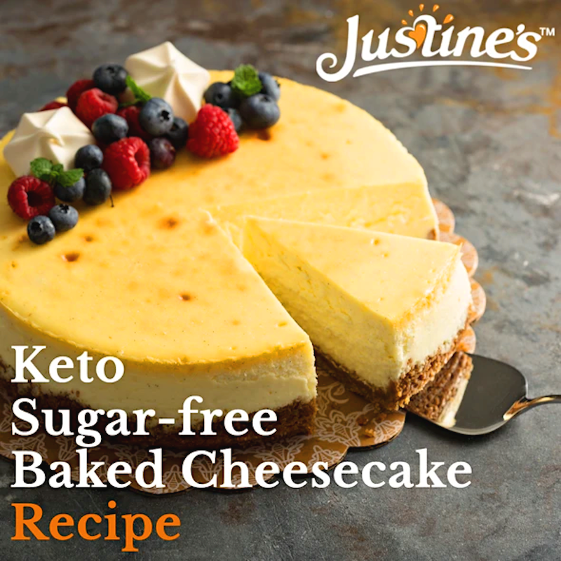 Keto Sugar-Free Baked Cheesecake