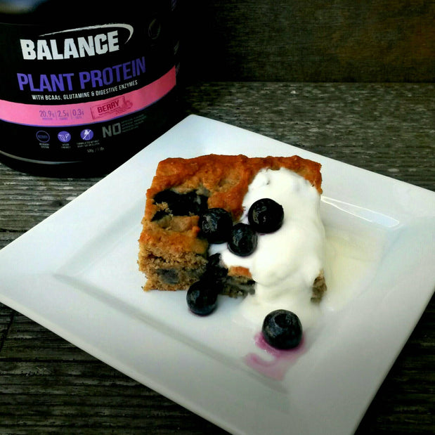 Very Berry Plant Protein Cake