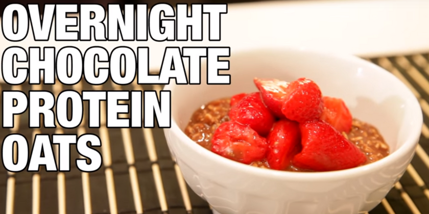 Overnight Oats With Chocolate And Protein