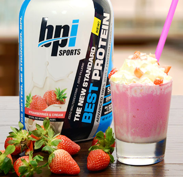 Strawberry Dream Protein Shake With BPI Sports