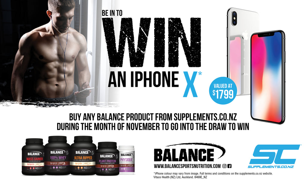 Win an iPhone X by purchasing any Balance supplement during November