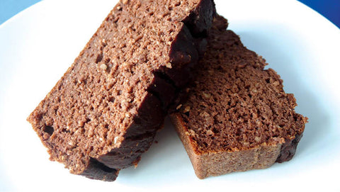 Chocolate protein cake with Optimum Nutrition protein powder