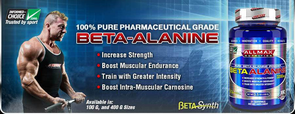 Allmax Beta Alanine, one of our best-selling Beta Alanine supplements