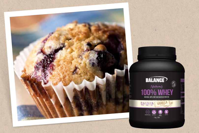 Balance Sports Nutrition Lemon Berry Protein Muffin Recipe
