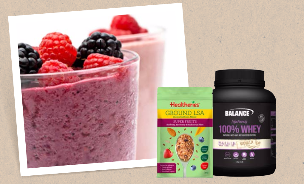 Balance/Healtheries superfruit protein smoothie recipe