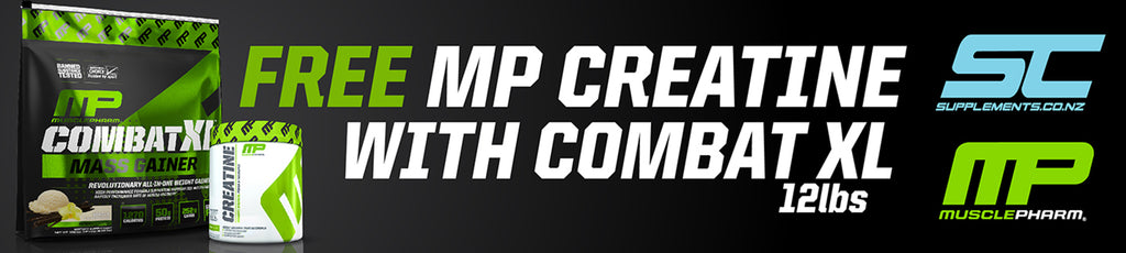 Free MusclePharm Creatine with purchase of Combat XL