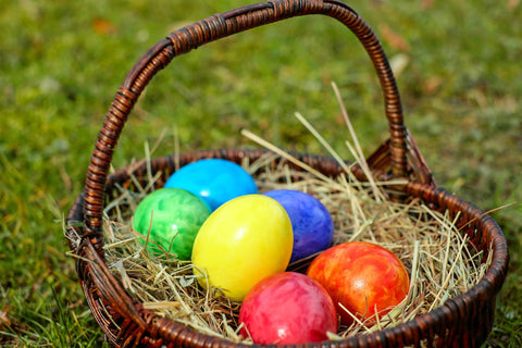 basket of easter eggs for workout