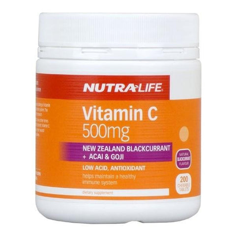 Nutralife Vitamin C 500mg Blackcurrant, Acai, Goji