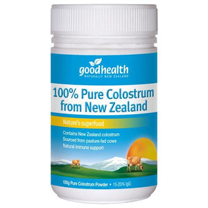Good Health 100% Pure Colostrum 100g-Physical Product-Good Health-Supplements.co.nz