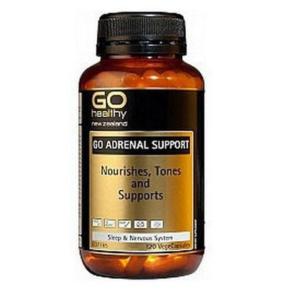 Go Healthy Go Adrenal Support 120 Veggie Caps - Supplements.co.nz
