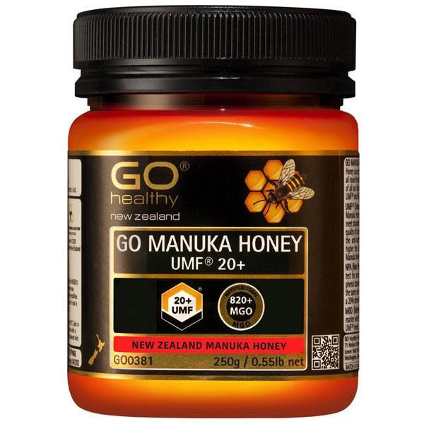 Go Healthy Go Manuka Honey Umf 20+ (Mgo 820+) 250Gm-Physical Product-GO Healthy-Supplements.co.nz